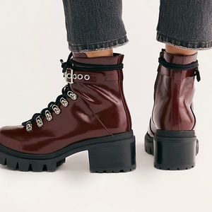 Jeffrey Campbell check (Czech) lace up boot 8.5